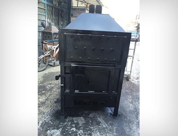 Siyah Renkli T4 Büyük Boy Fanlı Soba
