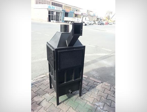 Siyah Renkli T1 Küçük Boy Fanlı Soba
